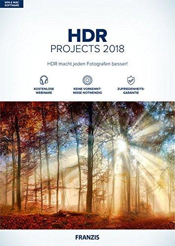 FRANZIS HDR projects 2018 | Perfekte Belichtung dank HDR | für Windows PC und Mac |CD-ROM