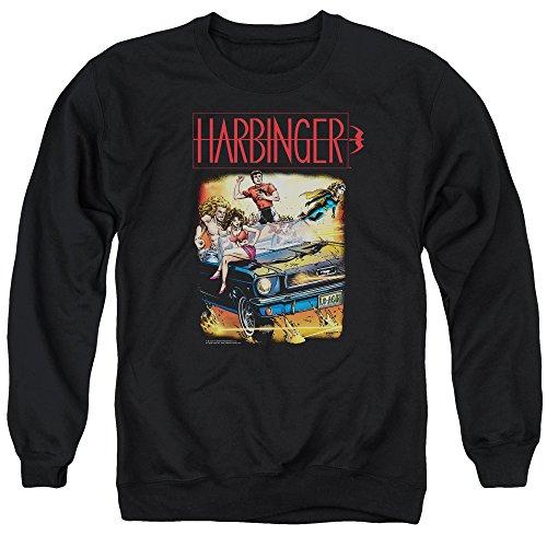 Harbinger - - Vintage Pull pour hommes, Large, Black