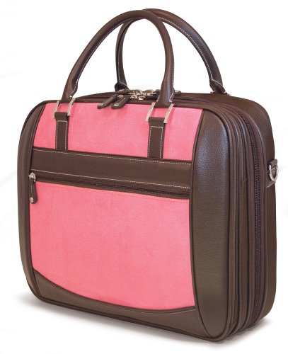 Mobile Edge Women's Black w/Pink, Checkpoint Friendly Element Laptop Briefcase 16 Inch PC, 17 Inch MacBook, Business, Travel MESFEBX