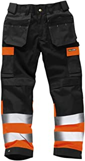 Pantalones de Trabajo Alta Visibilidad Resistentes Pantalones Laborales con Bolsillos Rodillas Triple Costura Ropa de Trabajo Resistente – Tamaños 71,12 a 116,84cm