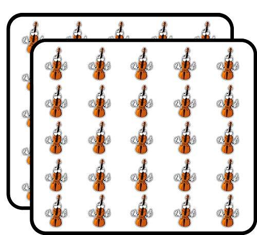Violin Smiley Art Decor Sticker for Scrapbooking, Calendars, Arts, Kids DIY Crafts, Album, Bullet Journals 50 Pack