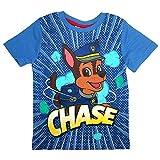 Paw Patrol Camiseta de los Nios Tamao 98-128 | Patrulla Canina, T-Shirt 86-164:104, Color:Azul plido
