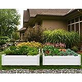 Vita 4 ft. x 4 ft. White Vinyl Raised Garden...