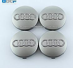 JXHDKJ Set Of 4 pcs 60mm Wheel Center Caps Hubcaps For Audi Silver