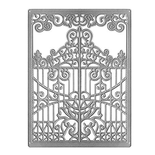 Metal Nested Die Cuts Symmetrical Pattern Lace Gate Door Frame Embossing Stencil Cutting Dies for Card Making Scrapbooking Paper Craft Album Stamps DIY Décor