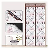 Thermal Insulated Curtains Waterproof PU Self Sealing Panel Partition Curtain Keep Cold out Door Cover for Bedroom Doorways 40 Sizes (Color : A Size : 90x205cm)