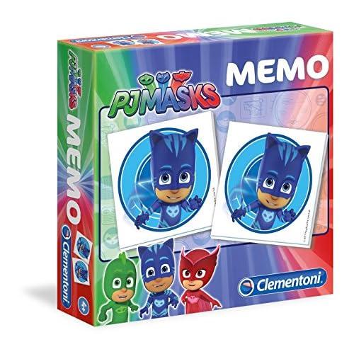 Clementoni - 18012 - Memo PJ Masks superpigiamini, gioco di memoria e associazione, gioco educativo bambini 3 anni, gioco da tavolo per bambini - Made in Italy