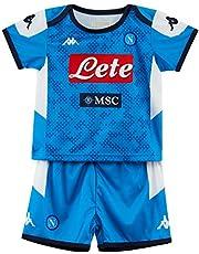 ssc napoli Bambino, Kit Gara Home 2019/2020, Blu, 4 anni