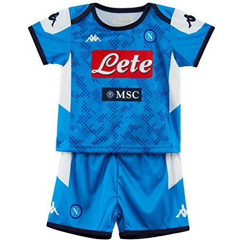 SSC Napoli Kit Gara Baby Home 2019/2020 Unisex Bimbi, Blu, 6 mesi