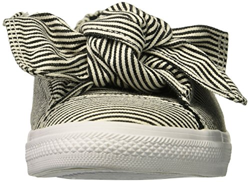 Converse Women's Knot Striped Chambray Slip On Sneaker, Black/White, 6.5 M US