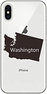 cold master DIY lab Washington The United States Map Apple iPhone X Phone Case Flexible TPU Soft Slim Transparent Cover Gift MultiColor