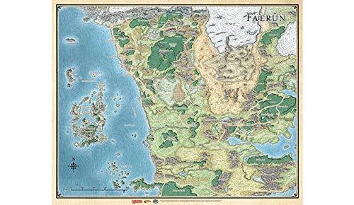 Dungeons & Dragons Sword Coast Adventuer's Guide Faerun Map