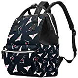 Inhomer Lady Underwear Pattern Diaper Bag Travel Mom Bags Nappy Backpack Large Capacity for Baby Care