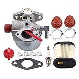 FEIFUSHIDIAN Reemplazo Carburador, 640350 640271 640303 Carburador Recycler césped segadora con Gasolina y Aire Filtro Piezas de Repuesto Cortasetos Kit carburador Presión