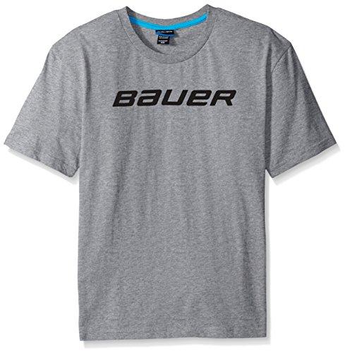 Bauer Youth Core Short Sleeve Tee, Unisex-Erwachsene, grau meliert, Large