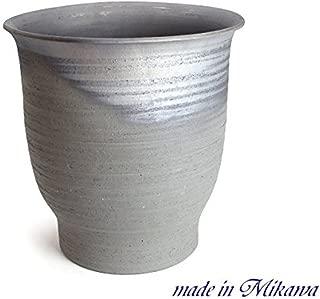 鉢 三河焼 KANEYOSHI 【日本製/安心の国産品質】 陶器 睡蓮鉢 三河焼 水瓶尻丸 15号 (45L)