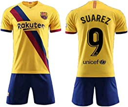 Fimng Suarez #9 2019-2020 FC Barcelona Men's Away Soccer Jersey/Short Colour Yellow