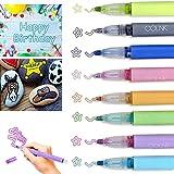 Penne Doppia Linea 8 Colori Penne Contorno,Pennarelli Magici,per Auguri di Compleanno/Regali di Natale/Scrapbooking/Pittura/Artigianato d'Arte Fai-da-Te/Regali di Natale