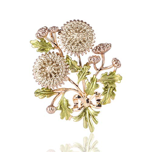 WSNDXZZ Broche de Abrigo Broche de Flor de Margarita de Estilo rústico Vintage Broche
