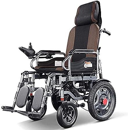Sillas de Ruedas eléctricas Toman la Iniciativa con Almohadillas de Freno electromagnéticas, Scooter Plegable Ligero para Personas Mayores y discapacitadas