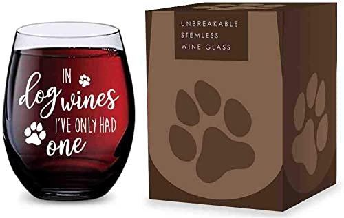 lowest Stemless Wine Glass for Dog Lovers (In Dog Wines Ive Only lowest Had One) Made of Unbreakable Tritan Plastic and Dishwasher Safe - lowest 16 ounces online sale
