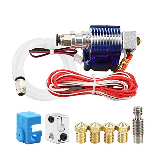 XIAOFANG 3D Printer J-head Hotend With Single Cooling Fan Fit For 1.75mm/3.0mm 3D V6 Bowden Filament Wade Extruder 0.2mm/0.3mm/0.4mm Nozzle (Color : 24V, Size : 1.75mm)