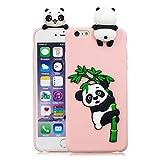 HopMore Compatible con Funda iPhone 6S / 6 (4.7 Inch) Silicona Dibujo 3D Divertidas TPU Gel Kawaii Ultrafina Case Antigolpes Caso Protección Design Carcasas Gracioso para iPhone 6 6S - Panda Rosa