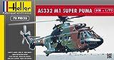 Heller 80367 - Modellino da Costruire, Elicottero Super Puma As 332 M1, Scala 1:72 [Importato da Francia]