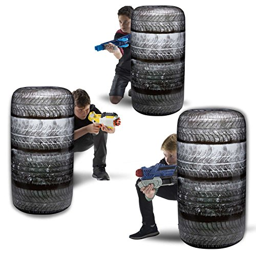BUNKR NA Inflatable Battle Zone Set, 34' x 19' x19'