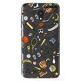 dakanna Funda para [Alcatel U5 3G - U5 Plus] de Silicona Flexible, Dibujo Diseño [Pattern Figuras Deportivas, Tenis, Bicicleta, Futbol, Baloncesto y Gimnasio], Color [Fondo Transparente]
