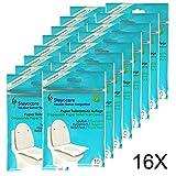 Steyocare Toilet Seat Cover - WC Sitzschutz, Travel Pack Einweg-Toilettensitze aus Papier, Auflagen, Toilettenbrillen Auflagen 160St.+ 2 Packs Gratis (180)