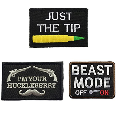 Homiego Bundle 3 Pieces Funny Tactical Morale Badge Hook & Loop Patches for Caps,Backpack,Jacket,Military Uniforms (B)