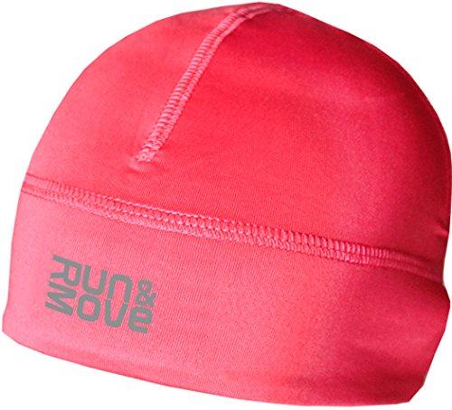 Run & Move Beanie Laufmütze Laufkappe Funktionskappe Mütze Kappe Running (L/XL (56-60cm), pink)