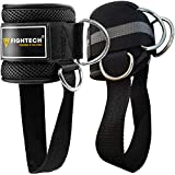 FIGHTECH Ankle Straps for Cable Machines | PRO Series Fitness Ankle Cuffs for Women & Men | Padded...