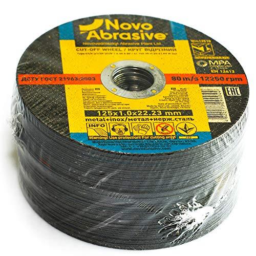NOVOABRASIVE Discos de corte 125 x 1,0 x 22,2 mm (Juego de 50 piezas) disco abrasivo...