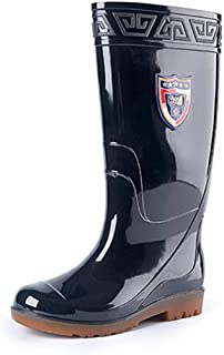 Casual Mens Wellies Waterproof Rain Boots Easy Wipe Clean Wellington Boots Durable Sturdy Half Wellie Shoes Wider Calf Fitting for Garden Fishing Outdoor Kitchen