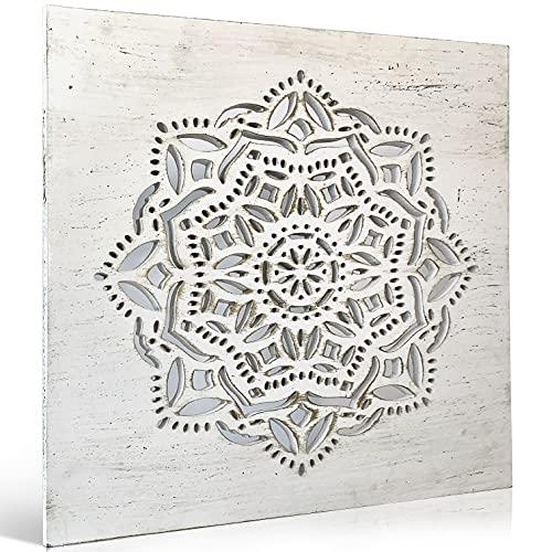 Cuadro Mandala Madera Pared - Cuadros para Cabeceros de Cama con Mandalas Calados -...