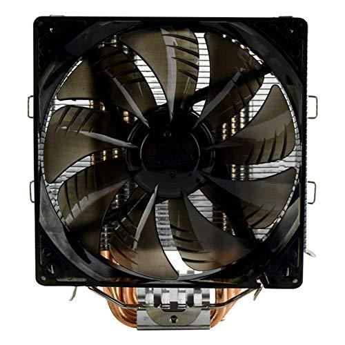 yingweifeng-01 Fan Tres X5 / X6CPU LED Inteligente Ventilador / 775/1151 Control de Temperatura de Escritorio L Radiador Azul Ordenadores (Color : East China Sea X6 Flame Edition)