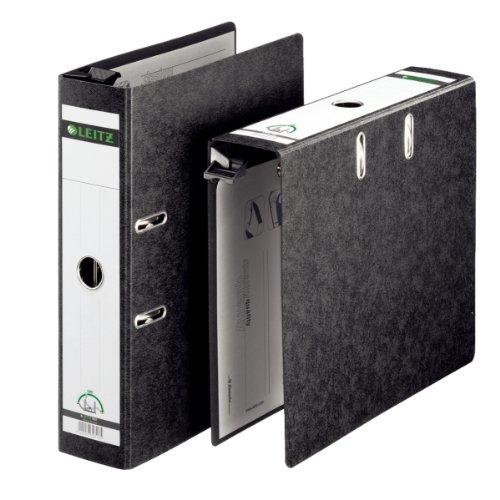 Leitz 18210000 Qualitäts-Hängeordner (A4, Rückenbreite 8 cm, Griffloch, Hartpappe (RC), Hängeschwenkbügel aus Kunststoff) schwarz