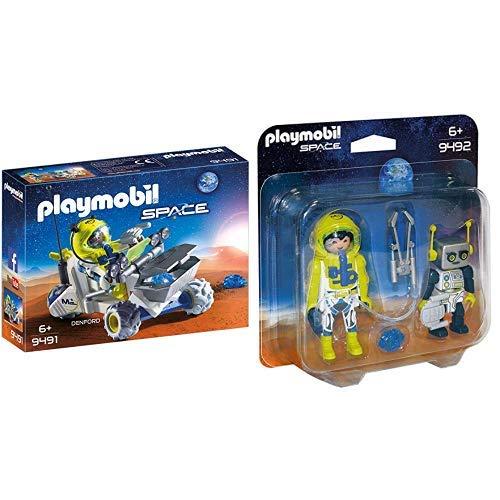PLAYMOBIL 9491 Spielzeug-Mars-Trike & 9492 Spielzeug-Duo Pack Astronaut und Roboter