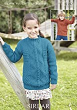Sirdar Childrens Sweaters Supersoft Knitting Pattern 2392 Aran