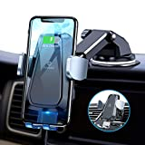 Andobil Fast Wireless Car Charger Mount [Auto-Clamping], Compatible with iPhone12/12 Pro/12Pro Max/12Mini/11/SE/X/XR/8, Sammung S20/10/9, Note 20/10/9, Qi Safe Charging 10W/7.5W for Vent & Dash
