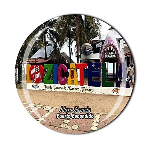 Playa Zicatela Puerto Escondido Mexico Fridge Magnet Souvenir Gift Crystal Magnetic Sticker