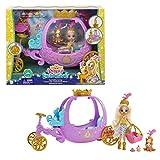 Enchantimals Royals coffret Carrosse Royal avec mini-poupée Peola Poney et figurine animale Petite, 7accessoires inclus, jouet pour enfant, GYJ16