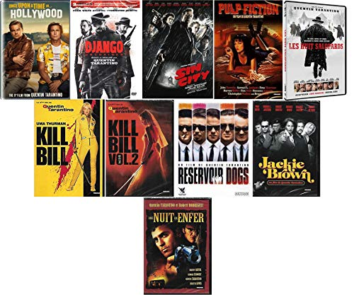 10 DVD Quentin Tarantino - Une nuit en enfer + Jackie Brown + Reservoir Dogs + Kill Bill Vol. 1 et 2 + Les Huit Salopards + Pulp Fiction + Sin City + Django + Once Upon A Time In Hollywood