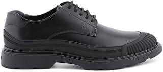 Luxury Fashion | Hogan Men HXM3930AV10DSIB999 Black Leather Lace-up Shoes | Season Permanent