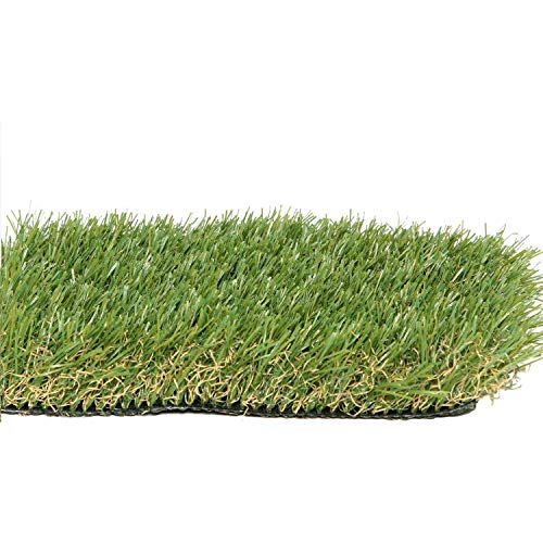 PZG Premium Artificial Grass Patch w/ Drainage Holes & Rubber Backing | 4-Tone Realistic Synthetic Grass Mat | 1.6-inch Blade Height |Extra-Heavy & Soft Pet Turf | Lead-Free Fake Grass for Dogs or Outdoor Decor | Size: 23' x 13.2'