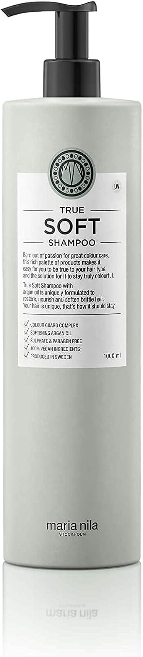 Shampoo per capelli secchi True Soft, 1 l, delicato e rafforzante Maria Nila Care & Style MN-3633