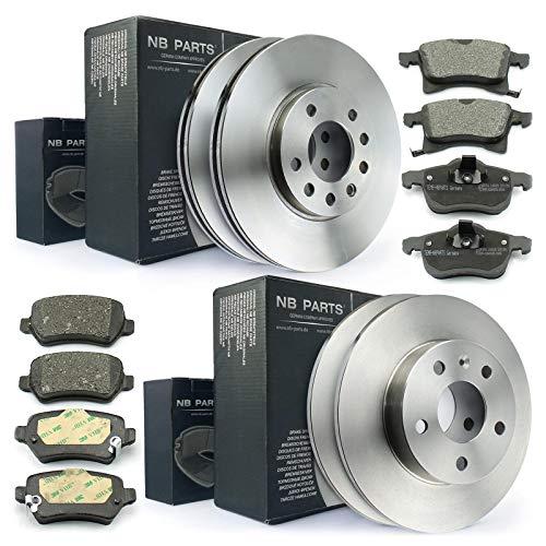Bremsen/Bremsscheiben + Bremsbeläge vorne + hinten NB PARTS GERMANY 10041697