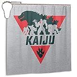 xuefan Wasserdichter Duschvorhang aus Polyestergewebe Kaiju Godzilla X Jaegers Print Dekorativer Badezimmervorhang mit Haken, 72 '' X 72